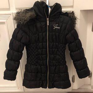 Kids Guess jacket,size M 5/6, black, USED
